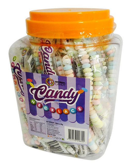 Candy Necklace - Individually wrapped (50pc x 20g Display Tub)