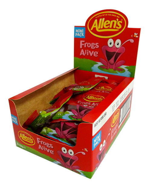 Allens Mini Bag - Red Frogs Alive, by Allens Confectionery,  and more Confectionery at The Professors Online Lolly Shop. (Image Number :15752)