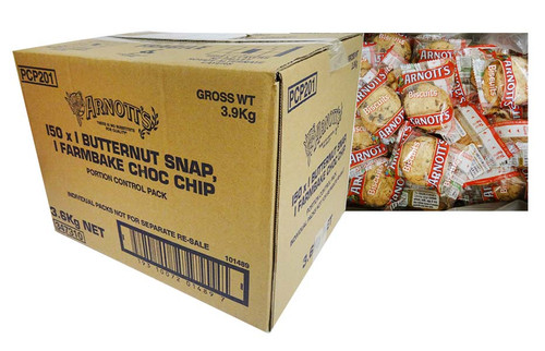 Arnotts - Butternut Snap and Farmhouse Choc Chip (2 biscuits x 150 packs)