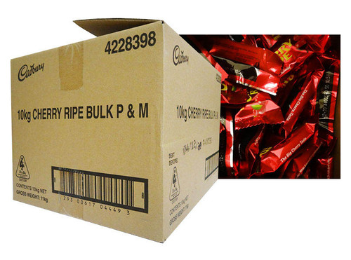 Cadbury Cherry Ripe Pieces (10kg bulk box )