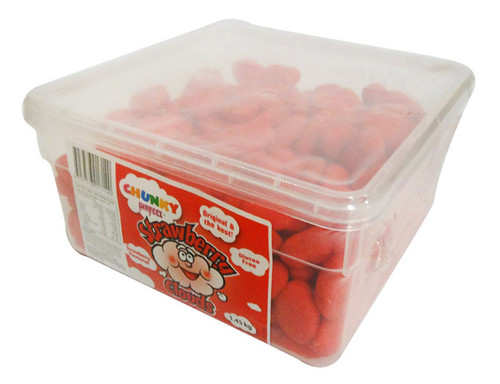 Chunky Funkeez Strawberry Clouds, by vidal,  and more Confectionery at The Professors Online Lolly Shop. (Image Number :15911)