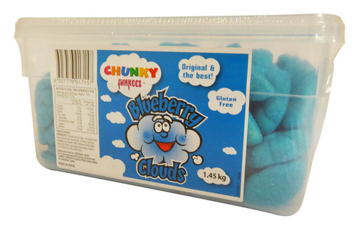 Chunky Funkeez Blueberry Clouds, by vidal,  and more Confectionery at The Professors Online Lolly Shop. (Image Number :16018)