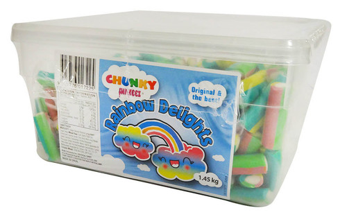 Chunky Funkeez Rainbow Delights, by vidal,  and more Confectionery at The Professors Online Lolly Shop. (Image Number :16065)