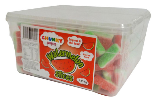 Chunky Funkeez Watermelon Slices, by vidal,  and more Confectionery at The Professors Online Lolly Shop. (Image Number :16067)