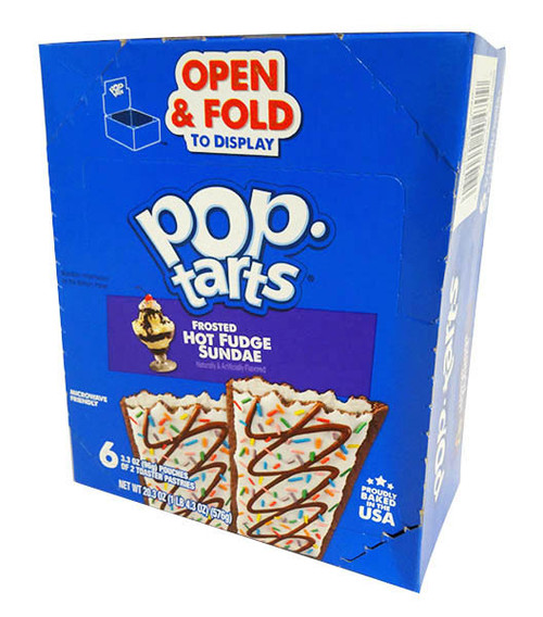Kelloggs Pop Tarts - Hot Fudge Sundae, by Kelloggs Pop Tarts,  and more Snack Foods at The Professors Online Lolly Shop. (Image Number :16610)