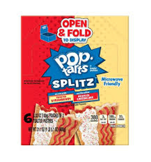 Kelloggs Pop Tarts - Splitz  Strawberry/Cheesecake, by Kelloggs Pop Tarts,  and more Snack Foods at The Professors Online Lolly Shop. (Image Number :14861)