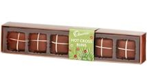 Chocolatier - Hot Cross Buns - 6 pieces and more Confectionery at The Professors Online Lolly Shop. (Image Number :15494)