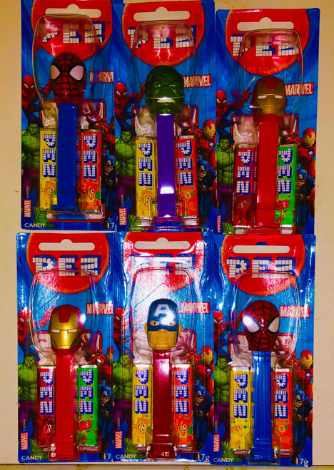 Pez Candy Dispensers - Marvel, by Pez,  and more Confectionery at The Professors Online Lolly Shop. (Image Number :14932)