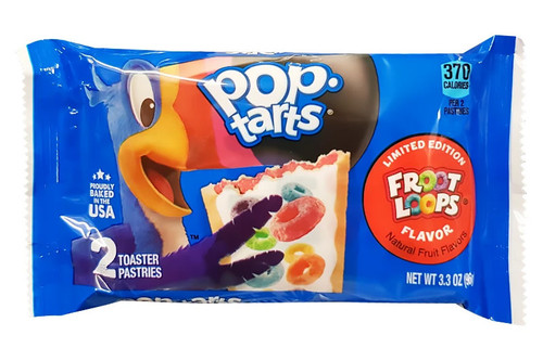 Kelloggs Pop Tarts - Froot Loops, by Kelloggs Pop Tarts,  and more Snack Foods at The Professors Online Lolly Shop. (Image Number :14916)
