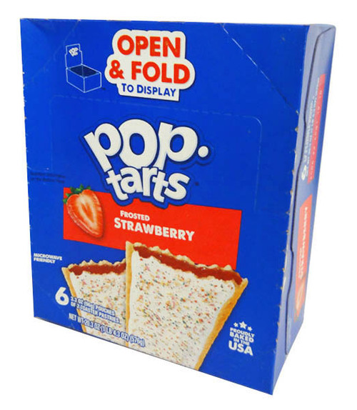 Kelloggs Pop Tarts - Frosted Strawberry, by Kelloggs Pop Tarts,  and more Snack Foods at The Professors Online Lolly Shop. (Image Number :16609)