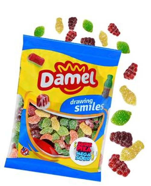 Damel Mega Sour Fruits and more Confectionery at The Professors Online Lolly Shop. (Image Number :14981)