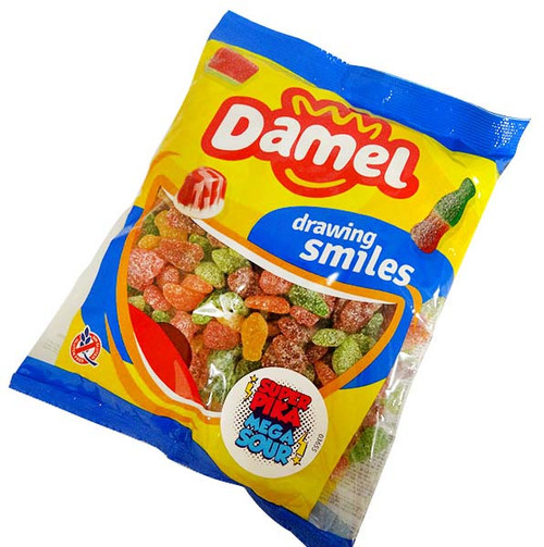 Damel Mega Sour Fruits and more Confectionery at The Professors Online Lolly Shop. (Image Number :15769)
