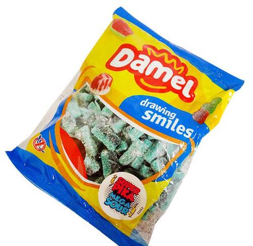 Damel Mega Sour Blue Slices, by Damel,  and more Confectionery at The Professors Online Lolly Shop. (Image Number :15766)