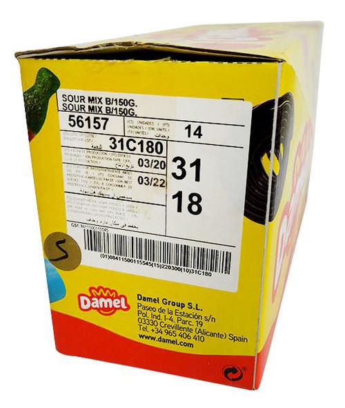 Damel Sour Rainbow Brixx (14 x 150g bags per box)