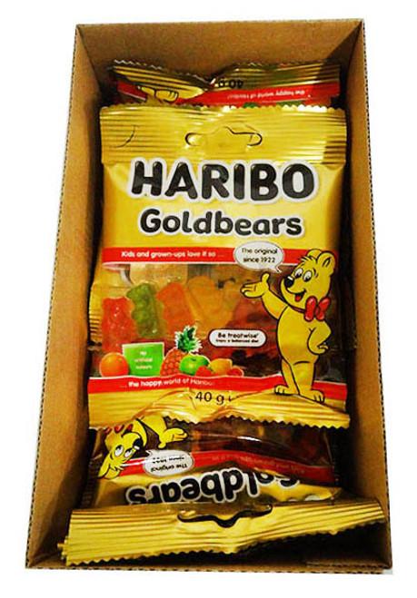 Haribo Gold Bears (40g x 18 bags per box)