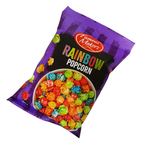 Rainbow Popcorn, by The Popcorn King,  and more Snack Foods at The Professors Online Lolly Shop. (Image Number :16518)