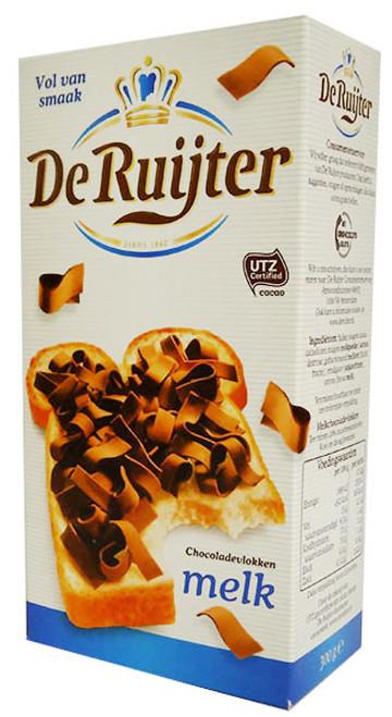 De Ruijter - Milk Chocolate Flakes  (300g)