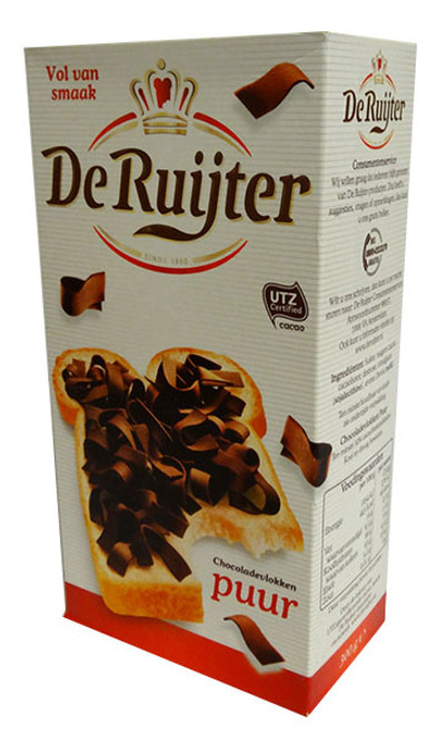 De Ruijter - Dark Chocolate Flakes and more Other at The Professors Online Lolly Shop. (Image Number :15783)