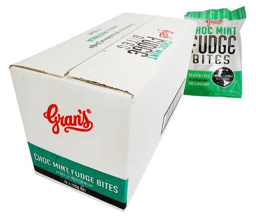 Grans Hang Sell Bag - Choc Mint Fudge (100g bag x 10pc box)