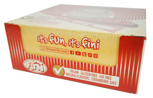 Fini Gourmet Red Liquorice Sticks, by Fini,  and more Confectionery at The Professors Online Lolly Shop. (Image Number :15835)