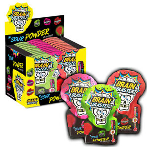 Brain Busterz Sour Powder with Lolly Dipper and more Confectionery at The Professors Online Lolly Shop. (Image Number :15138)
