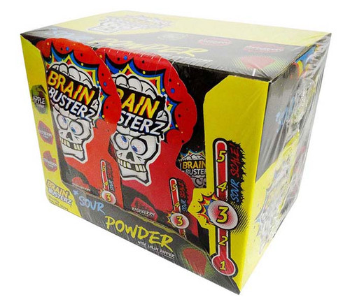 Brain Busterz Sour Powder with Lolly Dipper (30 x 10g packs in a display)