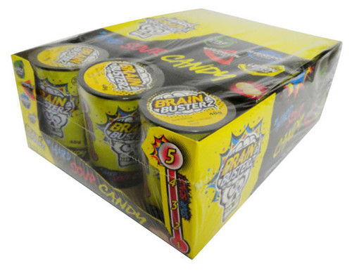 Brain Busterz Hard Sour Candy (12 x 48g tubs in a display)