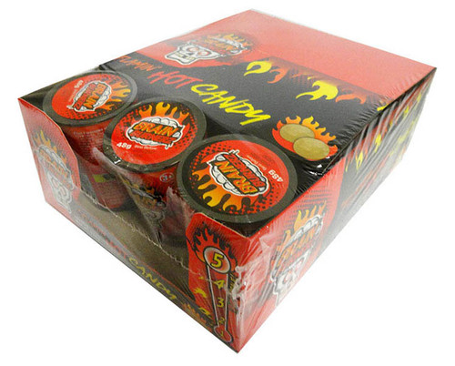 Brain Busterz Flamin Hot Candy (12 x 48g tubs in a display)