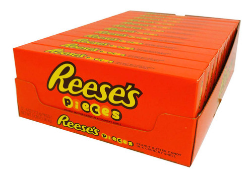 Reeses Pieces Theatre Box, by Reeses,  and more Confectionery at The Professors Online Lolly Shop. (Image Number :16655)
