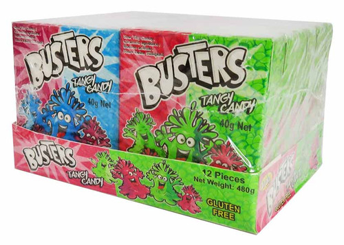 JoJo Busters Tangy Candy - Twin Hard Boxes (12pc x 40g box in a display unit)