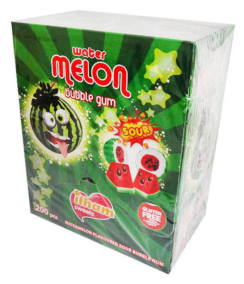 iLham Sweets - Water Melon Bubble Gum (200x 4.6g wrapped)