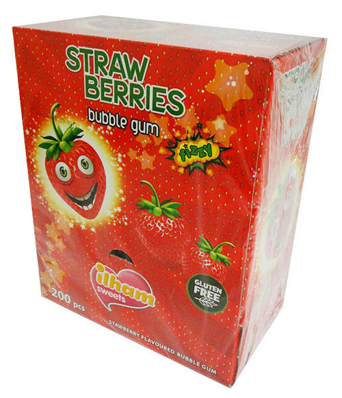 iLham Sweets - Strawberry Bubble Gum, by AIT Confectionery,  and more Confectionery at The Professors Online Lolly Shop. (Image Number :16428)