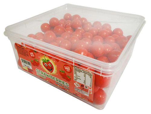 A.I.T - Strawberry Bubble Gum (1.1kg  Tub - Approx 200 balls)