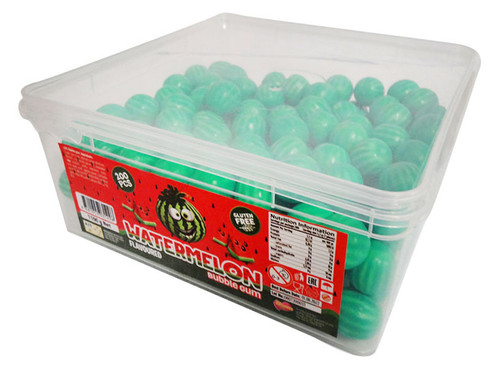 A.I.T - Watermelon Bubble Gum (1.1kg  Tub - Approx 200 balls)