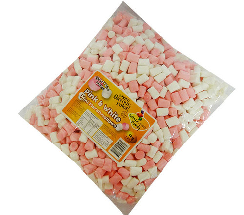 Lolliland Mini Marshmallows - Pink and White (1kg bag)