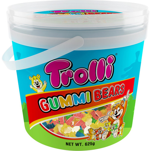 Trolli Gummi Bears Bucket, by Trolli,  and more Confectionery at The Professors Online Lolly Shop. (Image Number :15206)