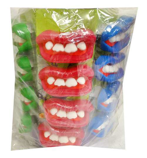 Zombie Candy Teeth Pops (24pc Display Unit)
