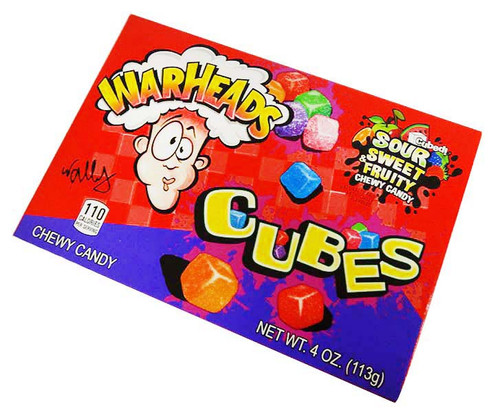 Warhead Movie Box - Chewy Cubes, by Warheads,  and more Confectionery at The Professors Online Lolly Shop. (Image Number :16361)
