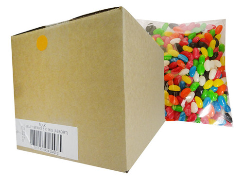 Allseps Bulk Jelly Beans - Assorted Colours (8 x 1kg Bag)