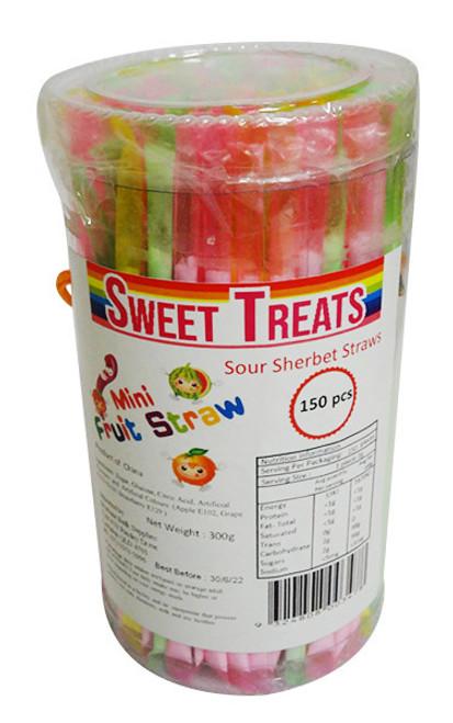 Sweet Treats Sour Sherbet Straws ( 150pc x 2g)