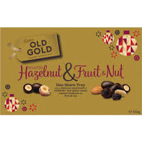 Cadbury Old Gold - Roasted Hazelnut & Fruit & Nut - B/B 17/5/21, by Cadbury,  and more Confectionery at The Professors Online Lolly Shop. (Image Number :15286)