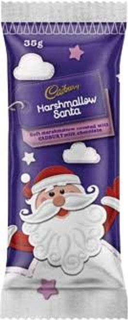 Cadbury Marshmallow Santa, by Cadbury,  and more Confectionery at The Professors Online Lolly Shop. (Image Number :15287)