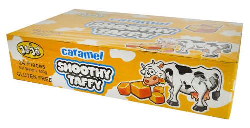 JoJo Caramel Smooth Taffy Chews (24 x 25g Bars in a Display Box)