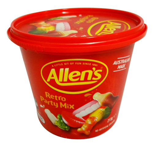 Allens Travel Cup - Retro Party Mix, by Allens Confectionery,  and more Confectionery at The Professors Online Lolly Shop. (Image Number :15883)