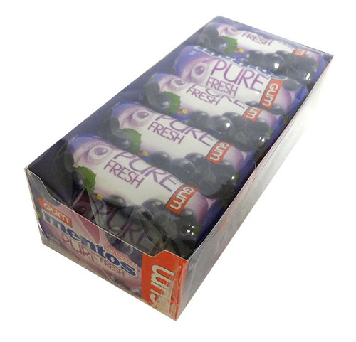 Mentos - Sugar free - Pure Fresh Gum - Grape, by Perfetti Van Melle,  and more Confectionery at The Professors Online Lolly Shop. (Image Number :16960)