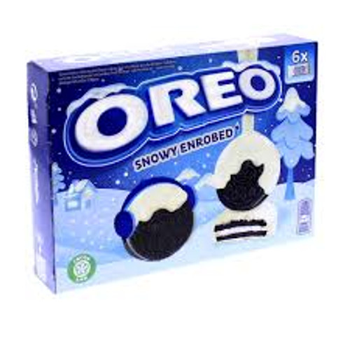 Oreo Snowy Enrobed and more Snack Foods at The Professors Online Lolly Shop. (Image Number :15305)