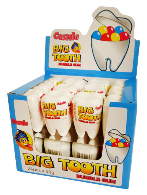 Cosmic Big Tooth Bubble Gum, by AllFect Distributors,  and more Confectionery at The Professors Online Lolly Shop. (Image Number :16028)