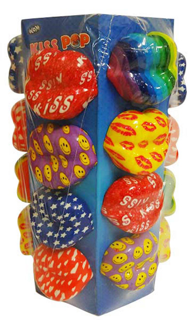 Bpop Kiss Pops - Series 2 and more Confectionery at The Professors Online Lolly Shop. (Image Number :15953)