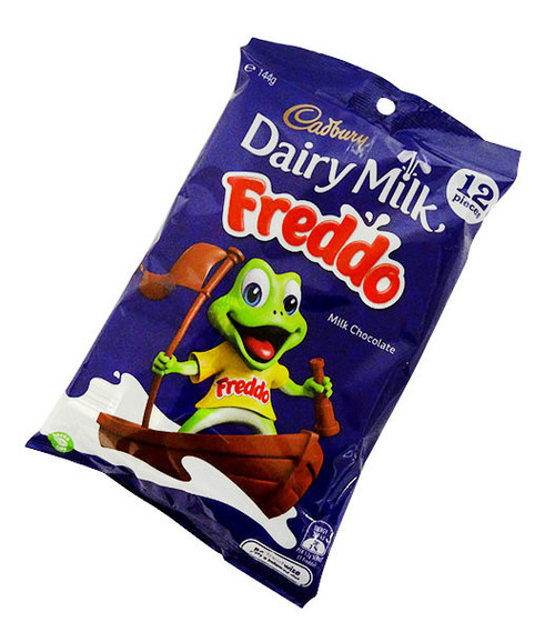 Cadbury Dairy Milk Freddo Frogs Sharepack, by Cadbury,  and more Confectionery at The Professors Online Lolly Shop. (Image Number :17060)