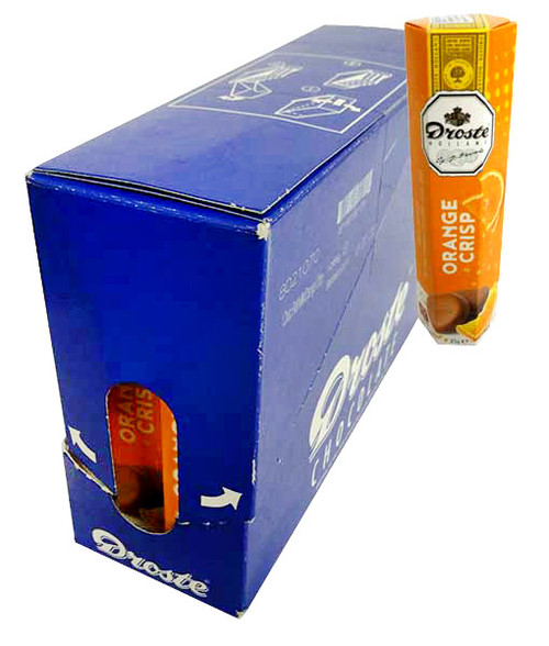 Droste Rolls Milk Chocolate / Orange Crisp (85g x 12pc Box)
